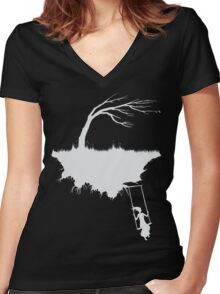swing:as it once was Women's Fitted V-Neck T-Shirt