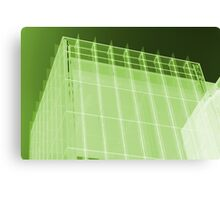 Transparent Cube Lime Canvas Print