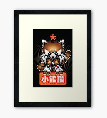 Red panda 1 Framed Print