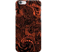 Hippy Doodle-Tangarine iPhone Case/Skin
