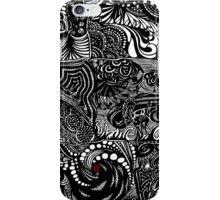 Hippy Doodle-White iPhone Case/Skin