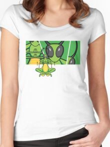 Patient Grasshopper 2 Women's Fitted Scoop T-Shirt