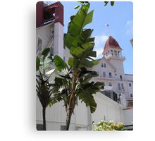 White Bird of Paradise at Hotel Del Coronado Canvas Print