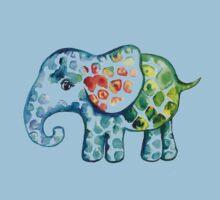 Rainbow Elephant Baby Tee