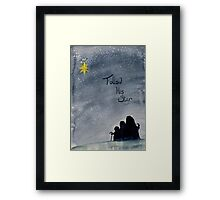 Follow His Star Framed Print