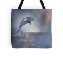 Joy Of The Leaping Dolphin Tote Bag