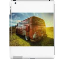 VW van and sunrays iPad Case/Skin