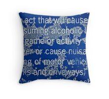 Crusty Sign Wall Art Throw Pillow
