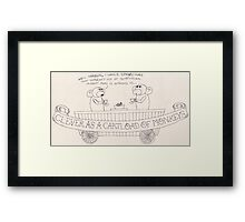 Clever As A Cartload of Monkeys Framed Print