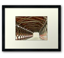 The Light At The End Of The Bridge Framed Print