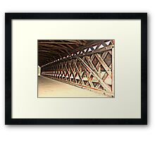 Crossing The Sach's Covered Bridge Framed Print