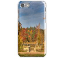 A Fishing Dock With Colors iPhone Case/Skin