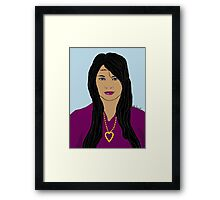 Hippie in Purple Digital Painting Framed Print