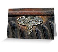 Ford Badge Wall Art Greeting Card