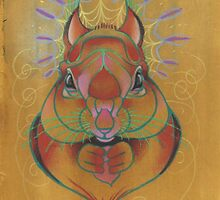red squirrel totem animal by resonanteye
