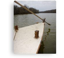 Keel Boat Rudder Oar Canvas Print