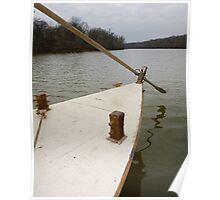 Keel Boat Rudder Oar Poster