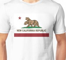 New California Republic Flag Distressed Unisex T-Shirt