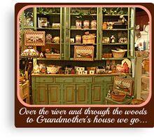 Christmas Card - To Grandmother's House We Go Canvas Print