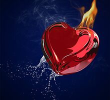Burning heart by oriondesign