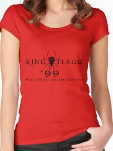 Dinh for Midworld - Crimson King & Randall Flagg 1999 Women's Fitted Scoop T-Shirt