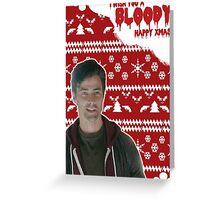 HTGAWM - Bloody good Christmas [Levi] Greeting Card