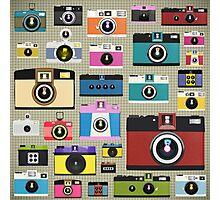 vintage camera pattern Photographic Print