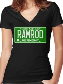 Car Ramrod Women's Fitted V-Neck T-Shirt