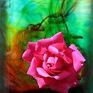 Rose Swirl (i-Pad Case) by Leanne Allen