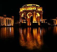 the Palace of Fine Arts at Night by fototaker