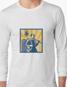 Chimney Sweeper Cleaner Worker Retro Long Sleeve T-Shirt