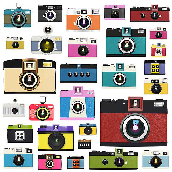 vintage camera pattern by naphotos