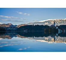 Evening at Lake Bled Photographic Print