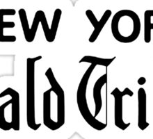 """New York Herald Tribune!""  Sticker"