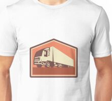 Container Truck and Trailer Flames Retro  Unisex T-Shirt