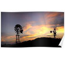 Country Sundown - Toowoomba Qld Australia Poster