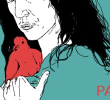 Patti Smith and Red Doves Sticker