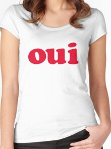 oui - red Women's Fitted Scoop T-Shirt