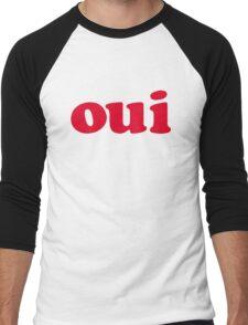 oui - red Men's Baseball ¾ T-Shirt