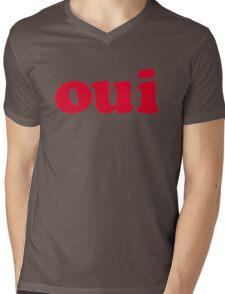 oui - red Mens V-Neck T-Shirt