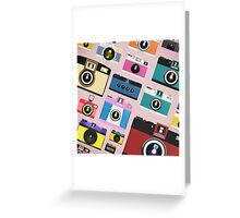 vintage camera pattern Greeting Card