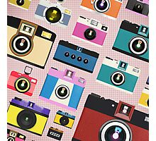 vintage camera pattern Photographic Print