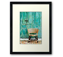 old door and chair  Framed Print