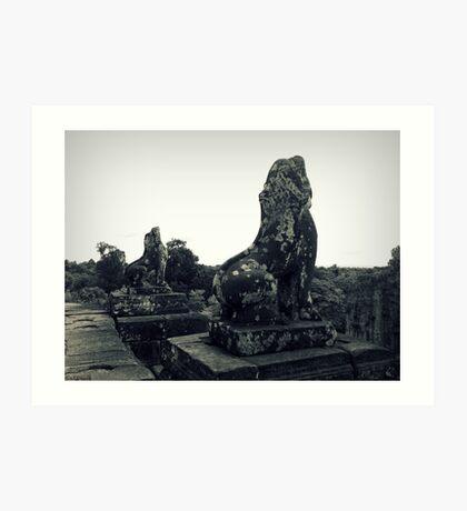 Cambodian Lions Art Print