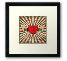 cupids and heart Framed Print