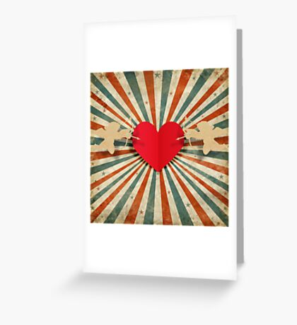 cupids and heart Greeting Card