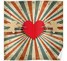 cupids and heart Poster