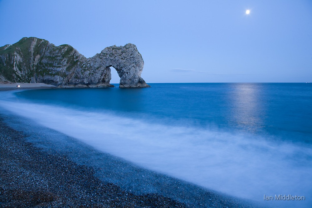 Jurassic coast blues by Ian Middleton