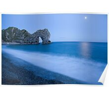 Jurassic coast blues Poster