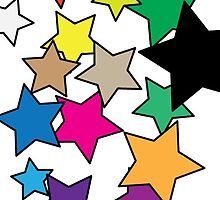 Coloured stars by PJ Fowler